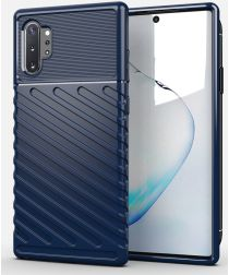 Samsung Galaxy Note 10 Plus Twill Texture Hoesje Blauw