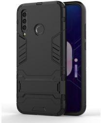 Honor 20 Lite Hybride Hoesje met Standaard Zwart
