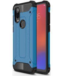 Motorola P40 Schokbestendig Hybride Hoesje Blauw