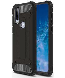 Motorola One Action Schokbestendig Hybride Hoesje Zwart