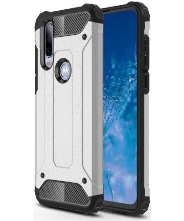 Motorola One Action Schokbestendig Hybride Hoesje Zilver Hoesjes