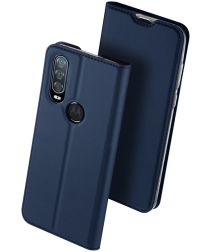 Dux Ducis Skin Pro Series Motorola One Action Bookcase Blauw
