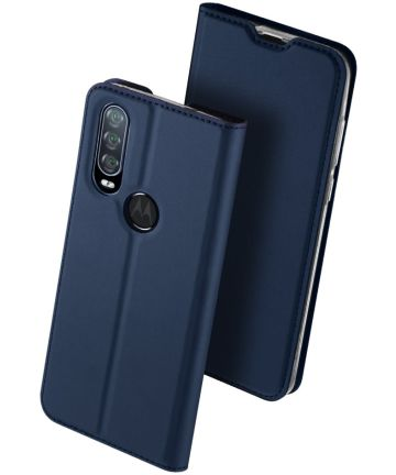 Dux Ducis Skin Pro Series Motorola One Action Bookcase Blauw Hoesjes
