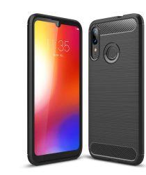 Motorola Moto E6 Plus / E6s Geborsteld TPU Hoesje Zwart