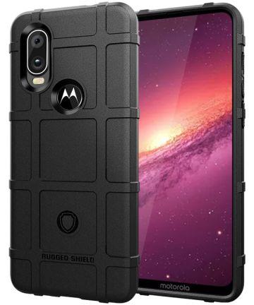 Motorola One Action Rugged Armor Hoesje Zwart Hoesjes