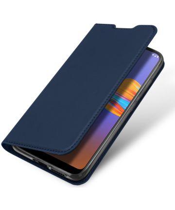 Dux Ducis Skin Pro Serie Motorola Moto E6s / E6 Plus Flip Hoesje Blauw Hoesjes