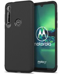 Motorola Moto G8 Plus Twill Slim Texture Back Cover Zwart