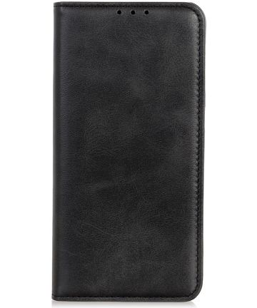Motorola One Macro Splitleren Portemonnee Hoesje Zwart Hoesjes