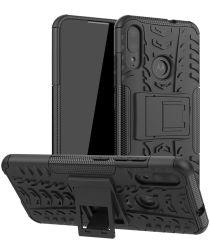 Motorola Moto E6s / E6I / E6 Plus Robuust Hybride Hoesje Zwart