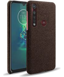 Motorola Moto G8 Plus Stof Hard Back Cover Coffee