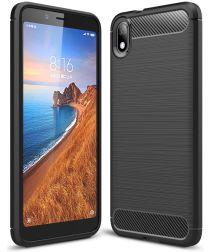Xiaomi Redmi 7A Geborsteld TPU Hoesje Zwart