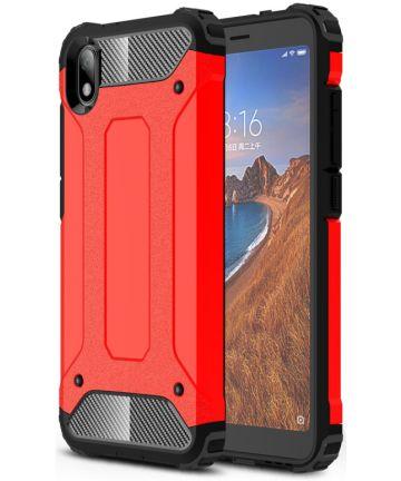 Xiaomi Redmi 7A Armor Guard Hybrid Case Rood Hoesjes