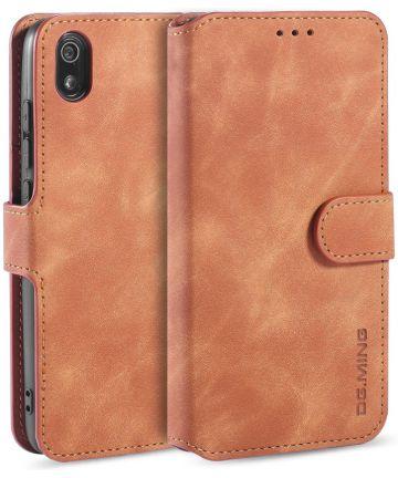 DG Ming Retro Portemonnee Xiaomi Redmi 7A Hoesje Bruin Hoesjes