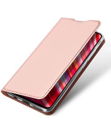 Dux Ducis Xiaomi Redmi Note 8 Pro Bookcase Roze Goud Hoesjes