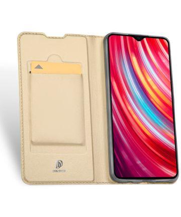 Dux Ducis Xiaomi Redmi Note 8 Pro Bookcase Goud Hoesjes