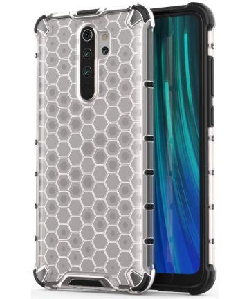Xaiomi Redmi Note 8 Pro Hybride Honinggraat Hoesje Wit