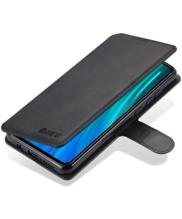 Xiaomi Redmi Note 8 Pro AZNS Portemonnee Stand Hoesje Zwart Hoesjes
