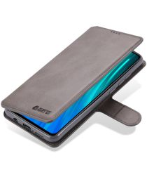 Xiaomi Redmi Note 8 Pro AZNS Portemonnee Stand Hoesje Grijs