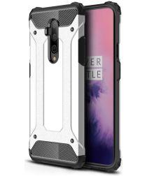 OnePlus 7T Pro Hybride Armor Hoesje Zilver