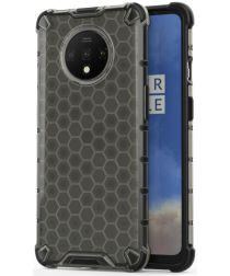 OnePlus 7T Hybride Honinggraat Hoesje Zwart
