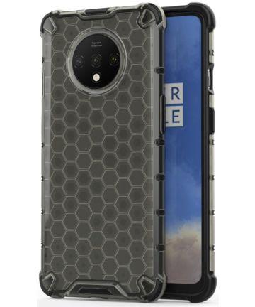 OnePlus 7T Hybride Honinggraat Hoesje Zwart Hoesjes