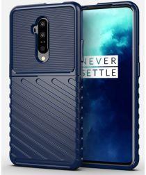 OnePlus 7T Pro Twill Texture Hoesje Blauw