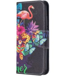 Nokia 2.2 Portemonnee Hoesje Flamingo