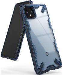 Ringke Fusion X Google Pixel 4 Hoesje Transparant / Blauw