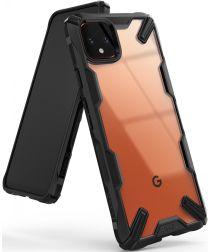 Ringke Fusion X Google Pixel 4 XL Hoesje Transparant / Zwart