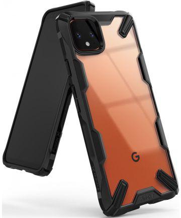 Ringke Fusion X Google Pixel 4 XL Hoesje Transparant / Zwart Hoesjes