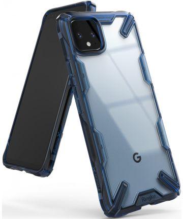 Ringke Fusion X Google Pixel 4 XL Hoesje Transparant / Blauw Hoesjes
