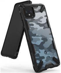 Ringke Fusion X Design Google Pixel 4 XL Hoesje Camo Zwart
