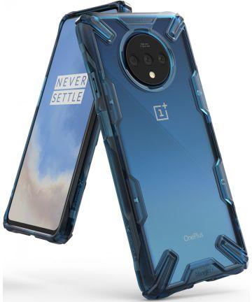 Ringke Fusion X OnePlus 7T Hoesje Transparant / Blauw Hoesjes