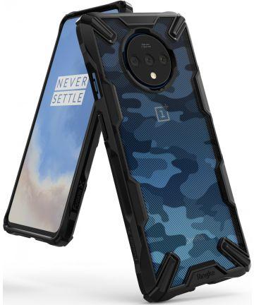 Ringke Fusion X Design OnePlus 7T Hoesje Camo Zwart Hoesjes