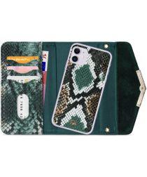Mobilize Velvet Clutch Apple iPhone 11 Hoesje Green Snake