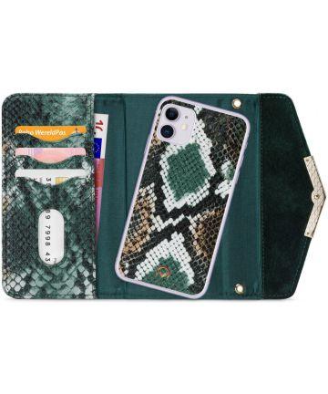 Mobilize Velvet Clutch Apple iPhone 11 Hoesje Green Snake Hoesjes