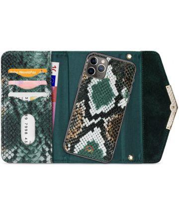 Mobilize Velvet Clutch Apple iPhone 11 Pro Max Hoesje Green Snake Hoesjes