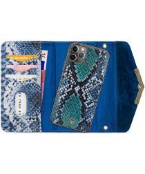 Mobilize Velvet Clutch Apple iPhone 11 Pro Hoesje Royal Blue Snake