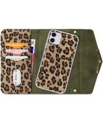 Mobilize Velvet Clutch Apple iPhone 11 Hoesje Green Leopard