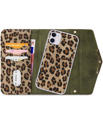 Mobilize Velvet Clutch Apple iPhone 11 Hoesje Green Leopard Hoesjes