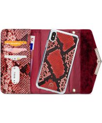 Mobilize Velvet Clutch Apple iPhone XS / X Hoesje Red Snake