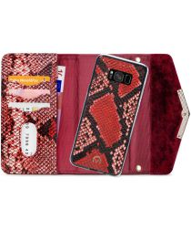 Mobilize Velvet Clutch Samsung Galaxy S8 Hoesje Red Snake