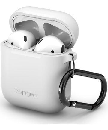 Spigen Silicone Fit Apple AirPods Hoesje Wit Hoesjes