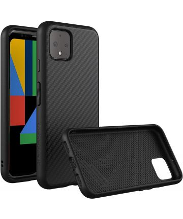 RhinoShield SolidSuit Google Pixel 4 Hoesje Carbon Zwart Hoesjes