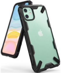 Ringke Fusion X Matte Apple iPhone 11 Hoesje Transparant/Zwart