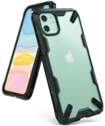 Ringke Fusion X Matte Apple iPhone 11 Hoesje Transparant/Groen