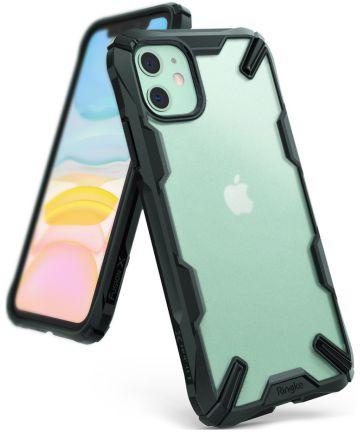 Ringke Fusion X Matte Apple iPhone 11 Hoesje Transparant/Groen Hoesjes