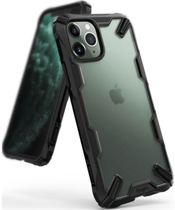 Ringke Fusion X Matte Apple iPhone 11 Pro Hoesje Zwart Hoesjes