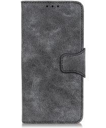 LG G8X ThinQ Vintage Portemonnee Hoesje Zwart