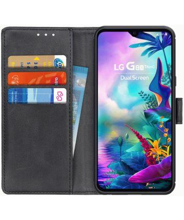 LG G8X ThinQ Matte Portemonennee Hoesje Zwart Hoesjes